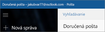 Ako vyzerá pás s nástrojmi, keď máte aplikáciu Pošta pre Windows 10.