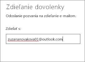 Zadajte celú e-mailovú adresu