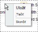 A simple shortcut menu