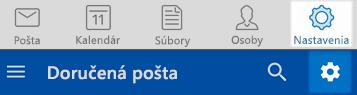 Nastavenia Outlooku v systémoch iOS a Android