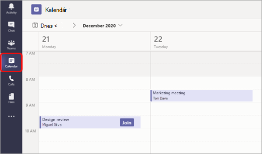 Zobrazenie kalendára