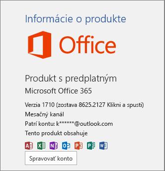 Bežná zostava balíka Office 365
