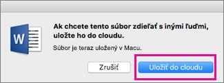 Uloženie do cloudu pred pozvaním ľudí