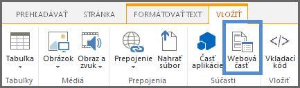 Vloženie webovej časti