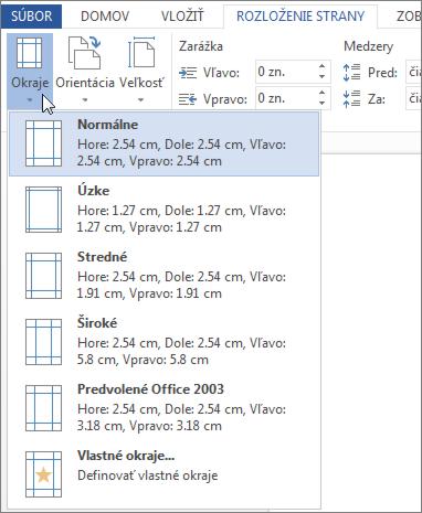 Obrázok galérie Okraje vaplikácii Word Web App