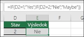 """Pomocou """""""" skontrolujte, či sa niekde nachádza prázdna bunka – Vzorec v bunke E3 je =IF(D3="""""""";""""Prázdne"""";""""Iné než prázdne"""")"""