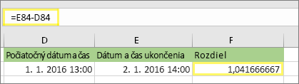 = E84-D84 a výsledok 1,041666667