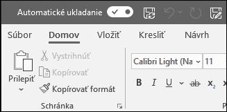 Prepínanie automatického ukladania vOffice