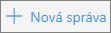 Snímka obrazovky zobrazuje tlačidlo Nová správa vslužbe Outlook.com.