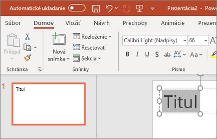 Formátovanie textu v PowerPointe