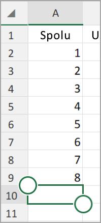 Tablet s Androidom Excel Automatický súčet