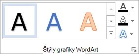Skupina štýly grafiky WordArt
