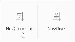 Vytvorenie nového formulára prieskumu