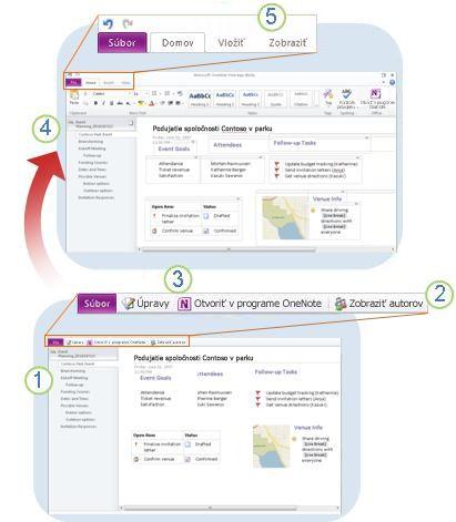 Stručný prehľad webovej aplikácie programu OneNote