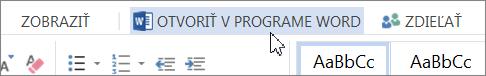 Otvoriť v programe Word