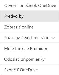 Centrum aktivity vo OneDrive pre Mac