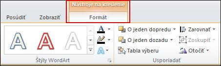 Drawing Tools appears, and the Format tab is added to the ribbon.