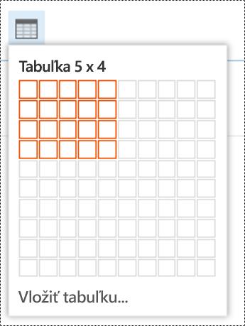 Pridajte jednoduchú tabuľku vOutlooku na webe.