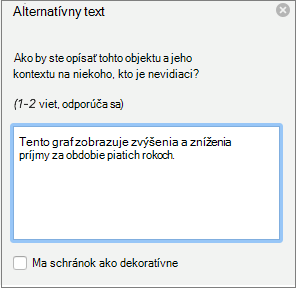 Alternatívny Text tably v programe Word