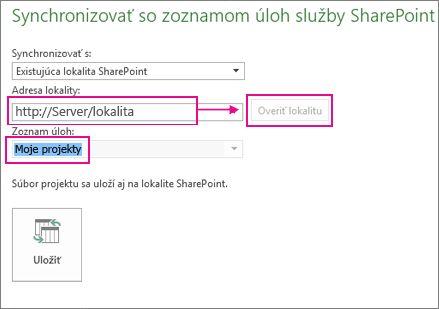 Uložiť projekt na SharePoint