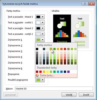 Zmena farby motívu