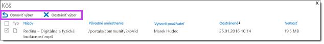Office 365 Video obnovenie alebo odstránenie nahratého videa