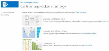 Domovská stránka lokality Centrum analytických nástrojov