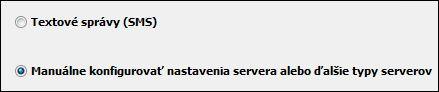 Manuálna konfigurácia nastavenia servera Outlooku 2010