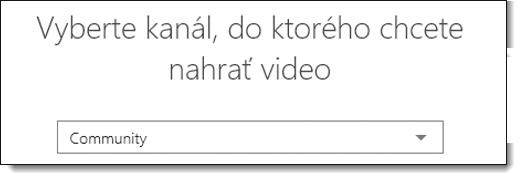 Office 365 Video vyberte možnosť kanál nahrať Video