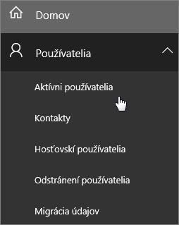 Aktívni používatelia v Centre spravovania služieb Office 365