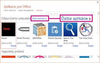 Kliknite na položku Ďalšie aplikácie a prehľadajte aplikácie v obchode