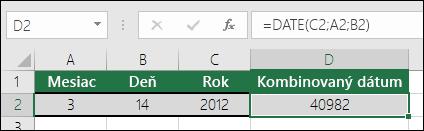 Funkcia DATE, príklad 1