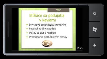 PowerPoint Mobile 2010 pre Windows Phone 7: úprava a zobrazenie z telefónu