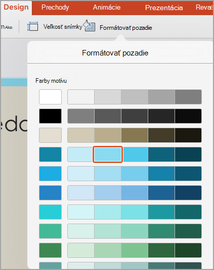 Farby pozadia