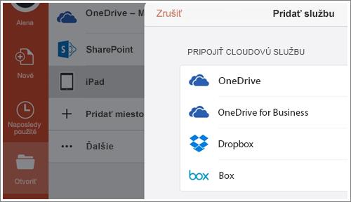 Snímka obrazovky pridávania miesta vPowerPointe pre iPad