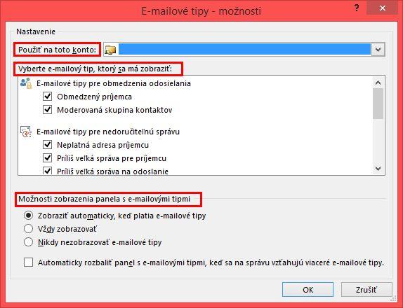 Outlook MailTip Options