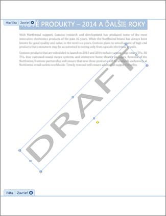 Obrázok dokumentu s vodotlkačou Koncept