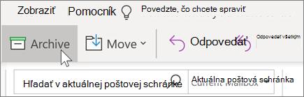 Archivácia e-mailu