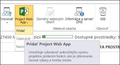 Project Web App > Pridať