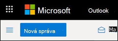 Ako vyzerá pás s nástrojmi v Outlooku na webe.