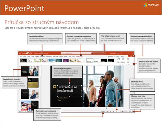 Príručka so stručným návodom pre PowerPoint 2016 (Windows)