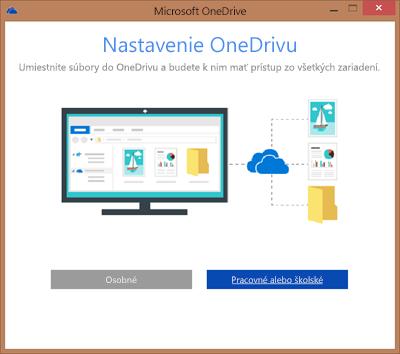 Snímka obrazovky dialógového okna Nastavenie služby OneDrive pri nastavovaní OneDrivu for Business na synchronizáciu