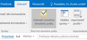 Funkcia Prioritná doručená pošta v Outlooku