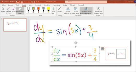 Konvertovanie písaného textu na matematický