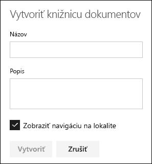 Podrobnosti knižnice dokumentov