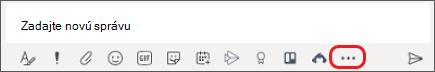 Pole, do ktorého zadávate správy v aplikácii Microsoft teams