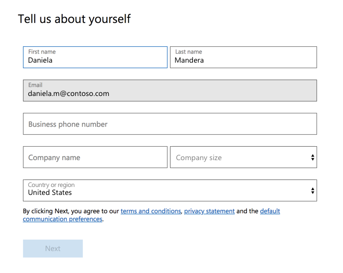 Registrácia na používanie bezplatnej aplikácie Teams