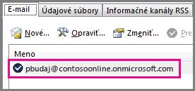 Konto v dialógovom okne Konto – nastavenie v Outlooku 2013