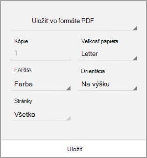 Uloženie vo formáte PDF