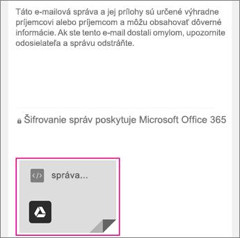 Zobrazovač OME so službou Gmail 1